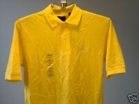 Izod Polo Shirt Yellow Small  Mens New NWT