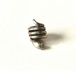 Solid Sterling Silver SNAKE Bead Charm