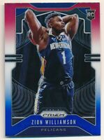 ZION WILLIAMSON 2019/20 PANINI PRIZM #248 ROOKIE RED WHITE BLUE PRIZMS PELICANS
