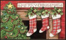 MatMate Door Mat Christmas Tree Stockings doormat recycled rubber nonslip 18x30