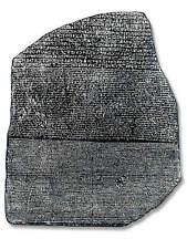 Stein von Rosette Replikat  - Rosetta Stein - Hieroglyphen Entschlüsselung