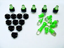 "15 Green Dome LEDs Light Bulbs 1/2"" Sockets License Plate Instrument Panel Mopar"