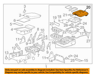 GM OEM Front Seat-Lid 22881398