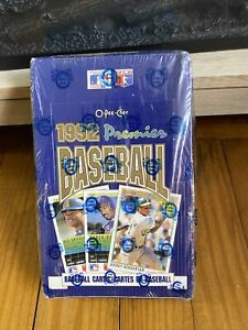 OPC 1992 O-PEE-CHEE PREMIER Baseball Card Box SEALED 36 Packs