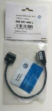 VW MEDIA-IN IPOD IPHONE LEAD CABLE ADAPTER MDI 000 051 446L. Brand New