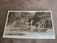 1954 real photographic Yorkshire postcard -Lily pool Italian Gardens Scarborough