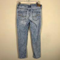 "American Eagle Women's Jeans Size 10 Inseam 28"" Skinny Light Wash"