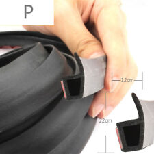 4M Black P-shape Window Door Rubber Seal Weather Strip Hollow Car Weatherstrip
