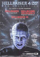 4 Dvd Box Collection «HELLRAISER I + II HELLBOUND + III INFERNO SULLA CITTÀ»