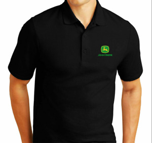 John Deere SUMMER Embroidered Polo Shirt New Personalised Gift Workwear Tractor