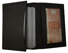 Men's Expandable Genuine Leather Credit Card and Business Holder ID Wallet Bk