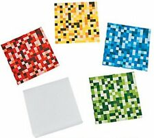 Pack of 12 - Digital Pixel Block Notepads - Stocking Party Loot Bag Fillers