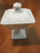 Vintage Collectible Glass - Westmoreland - Milk Glass - Pedestal Dish - With Lid