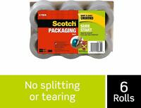 "Scotch Sure Start Packaging Tape Refill Rolls, 6-Rolls, 1.5"" Core, 1.88 Inches x"