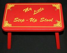 "Vintage 11½"" Wooden My Little Step-Up Stool Red Child's Furniture Toy Closet"