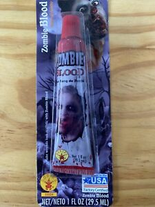 Zombie Fake Blood Red Halloween Party Horror Makeup 1oz. Fast Shipping!!!