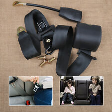 3 Point Car Auto Truck Retractable Adjustable Seat Lap Belt Safety Strap Buckle