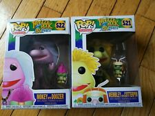Lot Funko Pop! Fraggle Rock #522 Mokey w/ Doozer #521 Wembley w/ Cotterpin