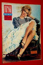 SEXY BRIGITTE BARDOT GORDON SCOTT TARZAN COVER 1963 RARE EXYU MOVIE MAGAZINE