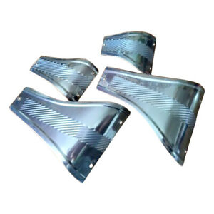 VW BUG Running Board Stone Guard 4 pieces Set Stainless Steel BEETLE Type 1