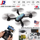 JXD RC Drone LED GPS WIFI FPV 720P HD Camera Quadcopter Headless Mode Helicopter