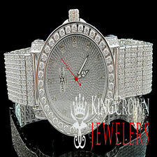 Mens New White Khronos JoJino/JoJo/Joe Rodeo One Row Bezel Genuine Diamond Watch