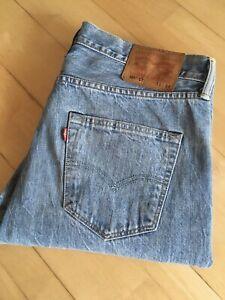 Levis 501 CT White Oak Selvedge Jeans W33 L34 Made In USA!