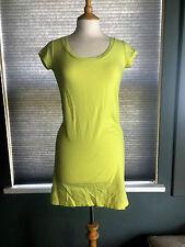 NEW GAP PURE COTTON SEAM DETAIL LIME SLUB T-SHIRT DRESS XX SMALL RRP £39.95