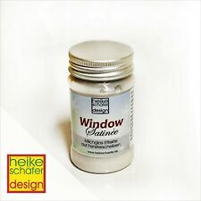 Satinier Creme, Fenster Creme ablösbar in Pearl Weiss 90g -Neu-  Heike Schäfer