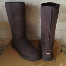 UGG Classic Tall Boots Chocolate Brown Suede Sheepskin Womens US 7 Womens