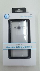 Quikcell ATT Phone Case for Samsung Galaxy Express 3 SM-J120 Two Tone Shield New