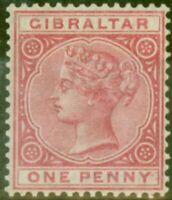 Gibraltar 1898 1d Carmine SG40 Fine Very Lightly Mtd Mint