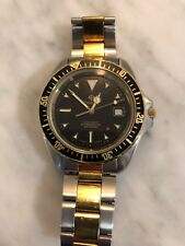 ZODIAC Red Dot Automatic Professional Diver Two Tone Excellent  Monnin Case