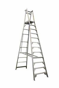 INDALEX Pro Series Aluminium Platform Ladder 15ft/12ft (4.6m/3.6m)