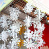 Christmas White Snowflakes Decorations Xmas Tree Party Festival Home Ornaments