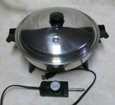 """Saladmaster 12"""" Electric Skillet #7272 w/Vapo Lid and Control-Works"""
