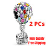 New 925 Sterling Silver Pandora Disney Up House & Balloons Charm Original Diy