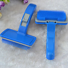 Self Clean Pet Care Hand Grooming Hair Brush Comb Cleaning Dog Puppy Cat KittenM