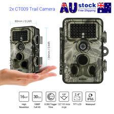 2PCS Trail Camera 16MP 1080p Hunting Farm Security Cam Waterproof Night Vision