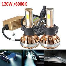 2x H7 120W 12000LM LED CREE per faro anteriore Kit 6000K Bianco Auto Lampadine