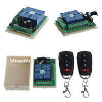 12V 4CH Channel Relay RF Wireless Remote Control Switch Receiver + 2 Transmitter