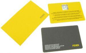 FENDI YELLOW AUTHENTICITY GUARANTEE CERTIFICATE CARD - NEW