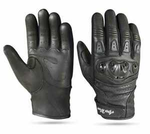 Leather Motorbike Gloves Knuckle Protection All weather Motorcycle Biker