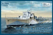 ORP KUJAWIAK - WW II POLISH NAVY HUNT-CLASS DESTROYER (ex HMS OAKLEY) 1/700 IBG