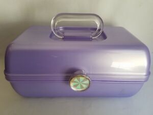 Vintage Caboodles Lavender Make-up Cosmetics Case Storage Organizer Mirror 2622