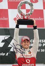 Jenson Button Hand Signed McLaren Mercedes 12x8 Photo Formula 1 F1.