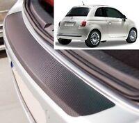 FIAT 500 - CARBONE STYLE Pare-chocs arrière protection