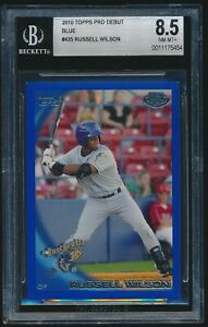 2010 Topps Pro Debut Blue rookie #435 Russell Wilson Baseball rc BGS 8.5 /369