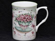 ROSE of ENGLAND BOUQUET OF ROSES Fine Bone China Cylinder Medium Mug