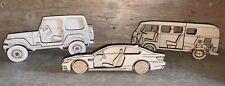MDF Car Blueprint 3D Layered Art